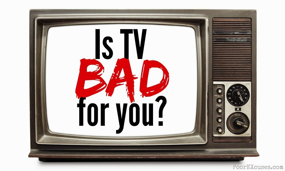 tv is bad for you Young adults who watch a lot of tv and don't exercise much may start to see the effects of their unhealthy habits on their brains as early as midlife, a new study.