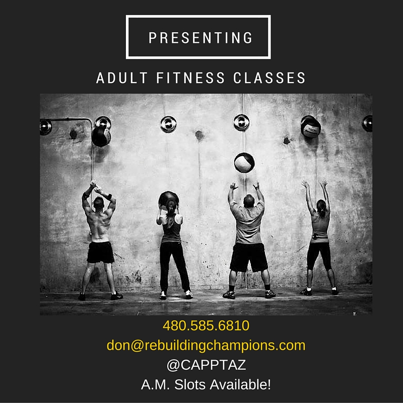 Adult Fitness ClassesMorning Slots Available